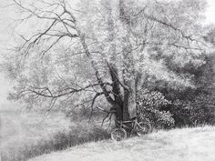 wood_bicycle_graphic_art_ink_pointillism _drawing using points