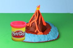 Play Doh Volcano Island, Ocean, Beach Volcano Eruption Lava PlayDough Scenery Mountain DisneyCarToys - YouTube Play Doh, School Projects, Projects For Kids, Volcano For Kids, Volcano Projects, Pet Monkey, Kids Shows, Working With Children, Volcanoes