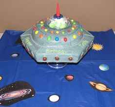 H will not stop asking for spaceship cake, it's not her birthday for another five months!