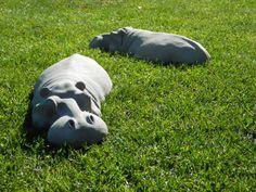 Paar tuin ornamenten Schattig nijlpaarden voor uw tuin