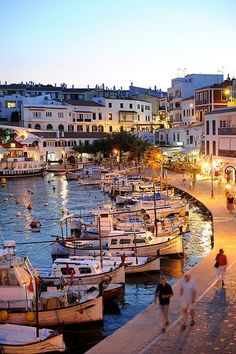 Es castell, menorca - beautiful, friendly fishing town, with pretty shops and restaurants lining the harbour! www.HotelDealChec...
