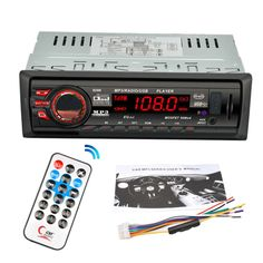 8288 Car Radio Stereo Audio MP3 Player Bluetooth DC 12V AUX FM Receiver U Disk Secure Digital Card Electronics Remote Control