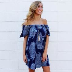 Off the shoulder dresses are always a yes! This one is great for summer && fall transition (Shop at the link in bio) . . . . . . . . . . #offshoulder #navy #summer #shop #onlineshopping  #onlineboutique #southernstyle #new #newarrival #lookswelove #lotd #shopitnow #instaoutfit #instadaily #whattowear #ootd #instafashion #fashion #style #trendy #boutique #obsessed #currentlywearing #fashionaddict #shoppingday #shopaholics #thatsdarling  #styleblogger #styleinspo