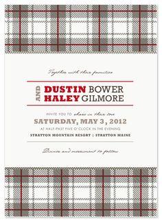 Rustic Plaid Wedding Invitations
