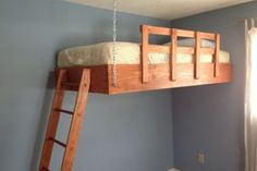 Redditor designs awesome space-optimizing suspended loft bed