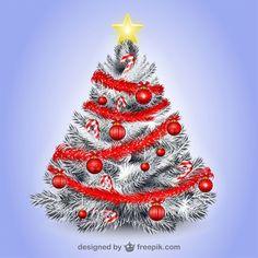 White Christmas tree illustration