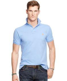 Polo Ralph Lauren Men s Classic-Fit Cotton Mesh Polo Shirt Men - Polos -  Macy s 86b85b0b13dc2