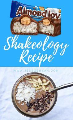 Almond Joy Chocolate Shakeology Recipe // 21 Day Fix Recipe // Healthy Dessert Recipe // Healthy Recipes // Chocolate Candy Shake // Protein Shake Ideas