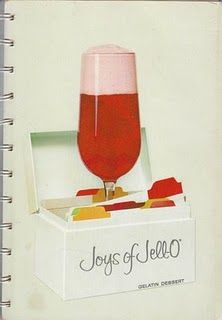 Joys of JELL-O cookbook, 1963.  I have my mom's old copy.  I love that thing!