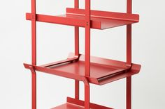 Scaffold Table is a minimal table created by Toronto-based designer Tom Chung. Steel Furniture, Kids Furniture, Furniture Design, Cardboard Furniture, Scaffold Table, Rack Metal, Joinery Details, Cafe Design, Bakery Design