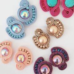 Small spring clip on earrings Soutache Earrings yellow clip on earrings rainbow earrings soutache ohrringe sun yellow earrings Yellow Earrings, Small Earrings, Emerald Earrings, Diy Earrings, Clip On Earrings, Earrings Handmade, Handmade Jewelry, Stud Earrings, Soutache Necklace