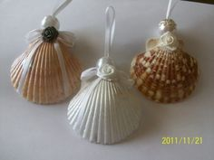 Scallop Shell Angel Ornaments | juniquegoods - Seasonal on ArtFire