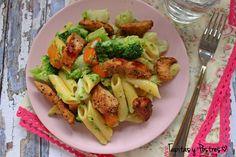 Pasta con verduras y pollo a la oriental   Cocina
