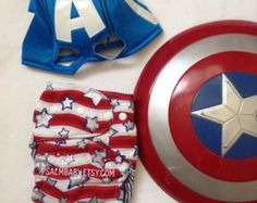 One Size Fitted Hybrid Patriotic Stars and Stripes Cloth Diaper
