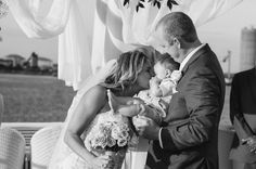 Wedding Ceremony First Kiss with Child#floridayachtwedding www.yachtstarship.com