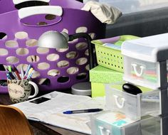 dorm organization tips.  this site has great dorm ideas and links to places you can buy dorm supplies