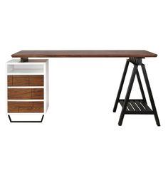 Original Jacob Pemble Modern Vintage Desk by Jacob Pemble - Matt Blatt Home Office, Office Desk, House Rooms, Storage Organization, Room Inspiration, Living Room, The Originals, Modern, Vintage