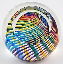 "Zephyr Paperweight by Paul D. Harrie (Art Glass Paperweight) (2.75"" x 2.75"")"