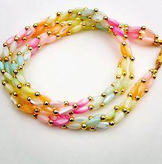 pastel rainbow necklace  /  pastel jewelry  /  by JojosJewelbox, $28.00