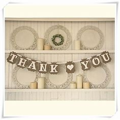 "Wedding+Décor+""THANK+YOU""+Bunting+Banner+Rustic+Shabby+Garland++Photo+Prop+–+AUD+$+12.86"