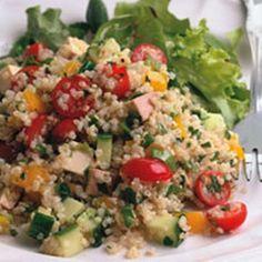 Quinoa met gerookte tofu