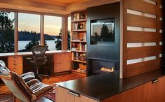 Интерьер домашнего офиса от Sundberg Kennedy Ly-Au Young Architects