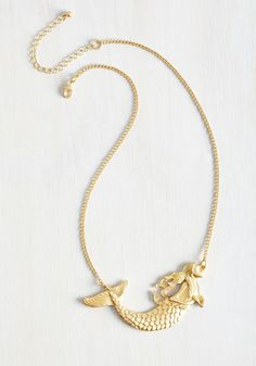Siren Majority Necklace - Gold, Solid, Nautical