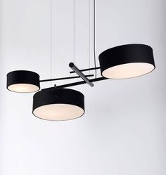 Excel Chandelier (Black)  Designed by Rich Brilliant Willing for Roll & Hill