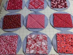 Most recent Free sewing hacks throw pillows Strategies Circle Quilt Patterns, Circle Quilts, Quilt Blocks, Sewing Hacks, Sewing Projects, Blue Jean Quilts, Red Weave, Cathedral Window Quilts, Denim Crafts