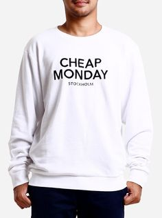 Easily paired with a pair of jeans or shorts, and sneakers, the Per Sweat Cheap Monday Sweater is versatile and is synonymous with casual everyday wear. It has a round neck and blended fabric, leaving the sweater a light feel.  http://zocko.it/LEJVK