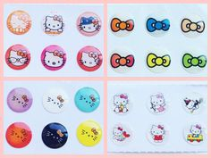 4x Hello Kitty Home Button Sticker Pack Lot for iPhone/iPad/iPod (24pcs) iPhone6