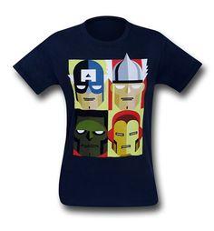 Images of Avengers Stylized Squares Navy 30 Single T-Shirt