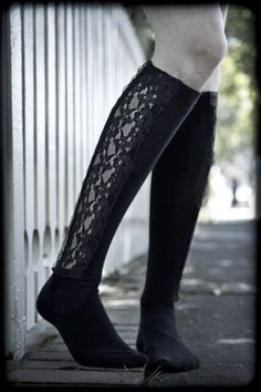 Upcoming lace paneled knee highs from K. Bell!