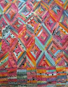Hearth rug for Hestia, procion mx overdyed string quilt, by Judy Martin, 1998 number ten of one hundred quilts