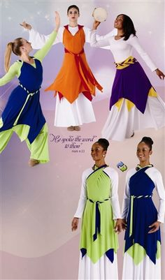 My next praise dance purchase! Praise Dance Wear, Praise Dance Dresses, Worship Dance, Dance Outfits, Girl Outfits, Garment Of Praise, Dance Uniforms, Dance Gear, Lyrical Dance