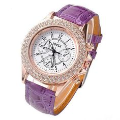 lila Chronograph, Watches, Accessories, Fashion, Lilac, Moda, Wristwatches, Fashion Styles, Clock