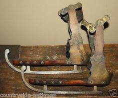 19th Century Primitive Ice Skates Douglas Rogers Co Norwich Ct Blondin Skate | eBay