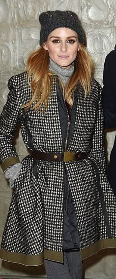Who made Olivia Palermo's coat?