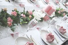 pynt konfirmasjon jente - Google-søk Table Centerpieces For Home, Table Arrangements, Table Decorations, Baby Event, Baby Girl Shower Themes, Outdoor Wedding Decorations, Table Flowers, Centre Pieces, Holidays And Events