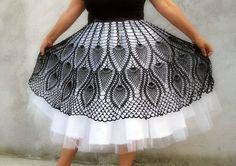 crochet petticoat skirt