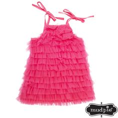 Mud Pie® Infant Girl Chiffon Ruffle Dress #VonMaur