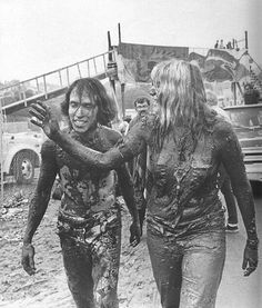 woodstock after the rain - nobody minded it... it did get muddy...nobody cared about that either