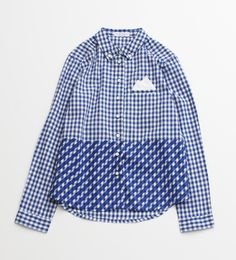 blue pattern t-shirt