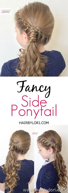 40 trendy hairstyles for school photos side ponytails - Hair Styles For School Side Ponytail Hairstyles, Side Ponytails, Ponytail Styles, Flower Girl Hairstyles, Fancy Hairstyles, Little Girl Hairstyles, Hair Styles, Fancy Braids, Fancy Ponytail