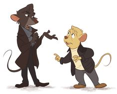 The Great Mouse Sherlock by ~Not-Quite-Normal on deviantART - I squealed at this crossover.
