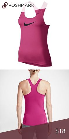 NIKE PRO COOL Training Tank Top In a tank of this quality, you'll look cool, feel cool, and stay cool. Enjoy.  Incredibly light, minimal construction gives this a one-of-a-kind fit and feel. V-shaped back allows for a wider range of motion. Dri-FIT® 84% polyester/16% spandex. Imported. Nike Tops Tank Tops