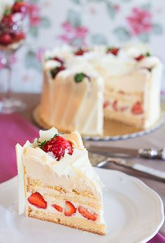 White Chocolate and Strawberry Cake from a former client, by Ivan Patisserie