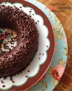 Pudim de chocolate no microondas... Brigadeirão!!!