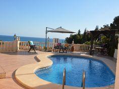 Lovely villa, unique sea view and private pool on the sun-drenched Costa Blanca en El Campello - Casa Coveta The Beach, Pool Maintenance, Alicante, Private Pool, Vacation Villas, Open Plan, Swimming Pools, Pergola, Summer