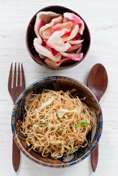 Indonesian fried vermicelli, bihun goreng